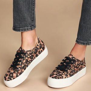 Steve Madden Emmi Leopard Platform Sneakers